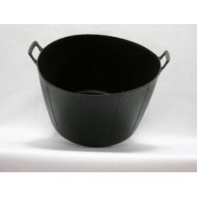 Capazo Plastico Negro  75 Kg.