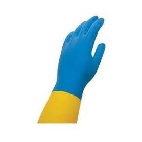 Guante Azul-Amarillo Extrafuerte  T/M