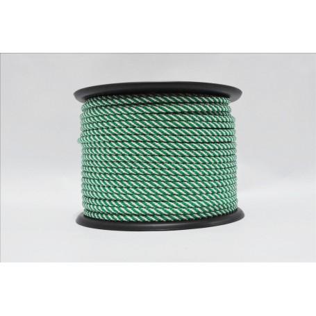Cuerda Poli. 10 m.m Verde-Blanca  Rfª. A000018