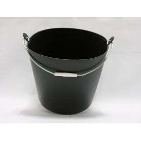 Cubo Negro Asa Metalica 26 L.